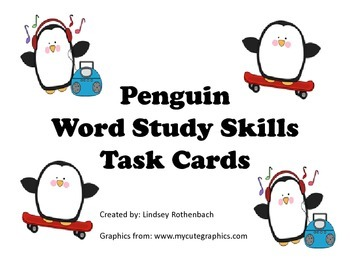 Word Study Skills Task Cards
