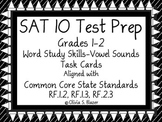 Word Study Skills - Vowel Sounds Task Cards - Grades 1 & 2 - SAT-10 Test Prep