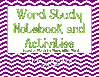 Word Study - Sorts and Activities {Common Core Aligned}