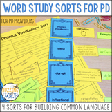 Word Study Sorts for Balanced Literacy Professional Development