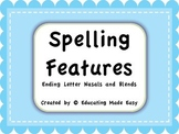 Word Study Spelling Features: Ending Blends
