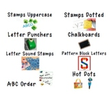 Word Study & Spelling Station Labels Centers