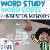 Word Study Spelling Word Sorts 3rd grade Phonics Distance