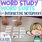 Word Study Spelling Word Sorts 4th grade Phonics Distance