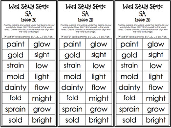 Word Study Stage - Parent Guides (Tyner)