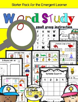 Word Study Starter Pack for the Emergent Learner