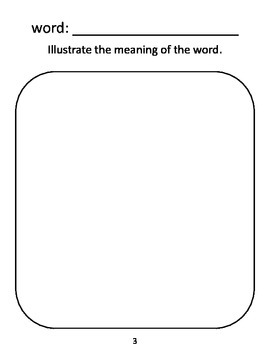 Word Study Station/ Center Activity- My Vocabulary Book Template