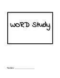 Word Study Student Work Book