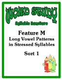 Word Study Syllable Juncture Stage, Feature M Sort 1