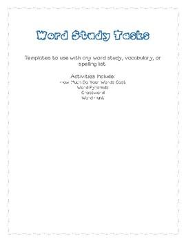 Word Study Tasks