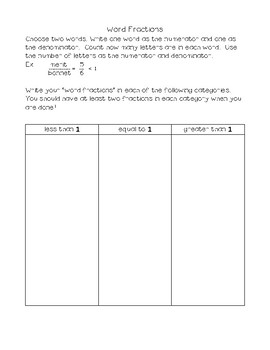 Word Study Tasks Integrated with Math