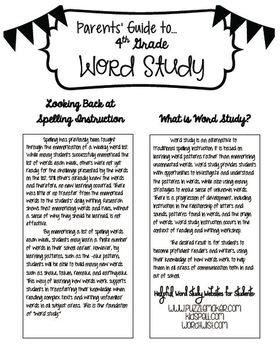Word Study Test Paper and Homework Options