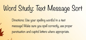 Word Study Texts