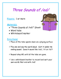 Word Study:  The Three Sounds of /ed/