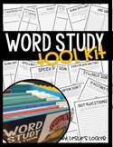 Word Study & Spelling Activities