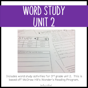 Word Study Unit 2 {3rd Grade}