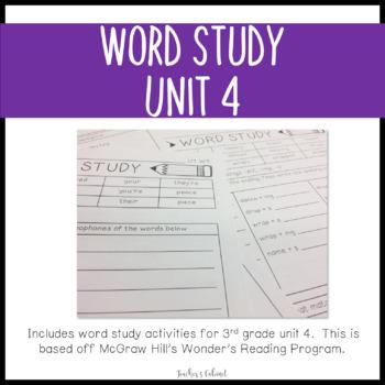 Word Study Unit 4 {3rd Grade}