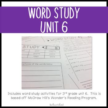 Word Study Unit 6 {3rd Grade}