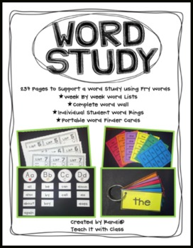 Word Study Unit {A Guide for All Year} Dolch