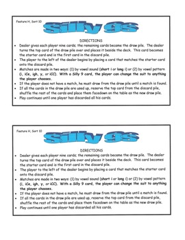 Word Study Unit Materials - Feature H, Other Long Vowel Patterns, Sorts 8-15