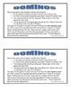Word Study Unit Materials - Feature I (Hard/Soft c & g) So