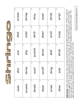 Word Study Unit Materials - Feature I (Triple Letter Blends) Sorts, Within Word