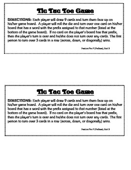 Word Study Unit Materials - Prefixes, Syllable Juncture Stage
