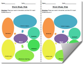Word Study Web Template