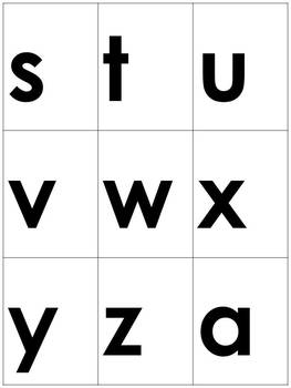 Word Study: Word Building Letter Cards A - Z - Large Letters