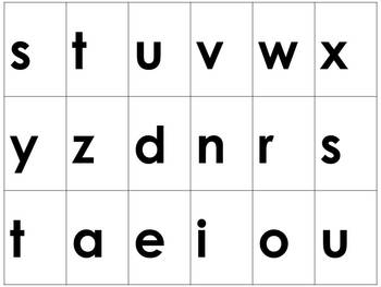 Word Study: Word Building Letter Cards A - Z - Medium Letters