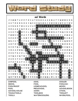 Word Study Word Search pdf - 14 Pages