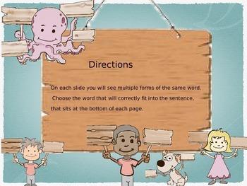 PowerPoint Game: Homophones Game