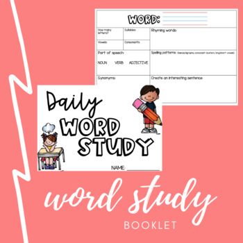 Word Study/Word of the Day Template/Booklet