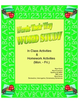 """Word Study - """"Words Their Way"""""""