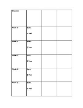 Word Study Words Their Way Spelling Sort Tracker