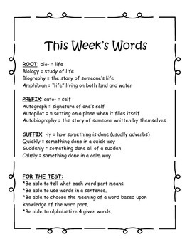 Word Study Year-Long Pack