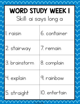 Word Study and Spelling Solution~ Challenge Lists