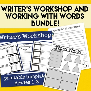 Bell Ringers- Working with Words AND Writer's Workshop NO PREP Bundle!