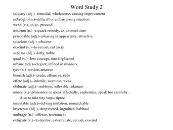 Word Study for ACT and SAT Exams