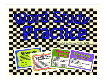 Word Study for Literacy Centers