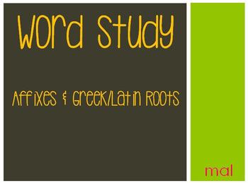 Word Study: mal