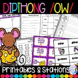 Dipthong OW and OU Activity Pack
