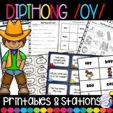 Dipthong OY and OI Stations and Worksheets