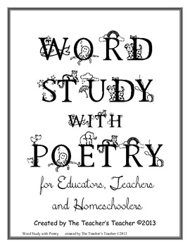 Word Study with Poetry Intermediate Edition