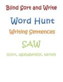 Word Study word work