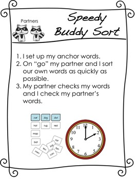 Word Study/Word Work Anchor Charts (Words Their Way)