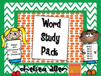 Word Study...works with any phonics, spelling, Words Their Way sorts