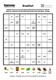 Word Sudoku to Learn English: Breakfast