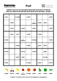 Word Sudoku to Learn English: Fruit