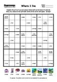 Word Sudoku to Learn English: Where I live